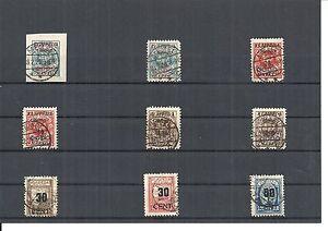 Memel-Litauen-1923-Einzelmarken-aus-MiNrn-121-205-o-geprueft-Huylmans-BPP