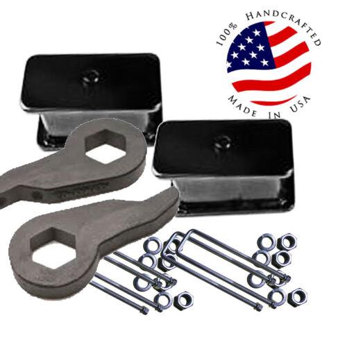 "D Lift  Chevy Torsion Keys 4/"" Fabricated Steel Blocks 88-98 6 Lug 4x4 Truck SUV"