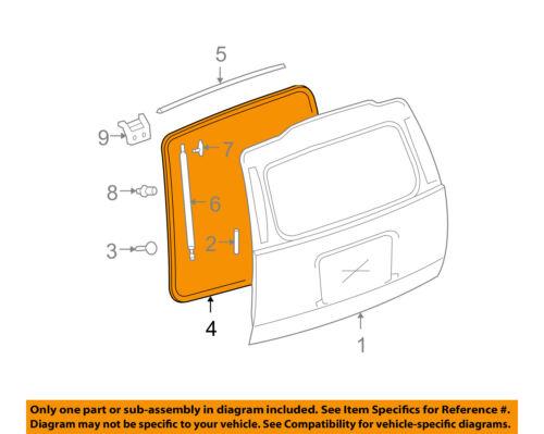 GM OEM Lift Gate-Surround Weatherstrip Seal 22775503