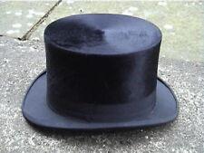 Very Large Size Antique Black Silk Top Hat Sz 7½.