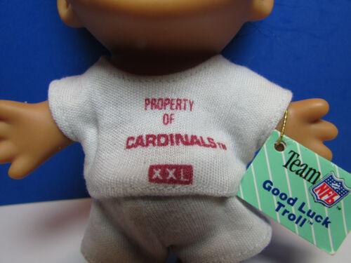 """NEW IN BAG ARIZONA CARDINALS GOOD LUCK SPORTS TROLL 5/"""" Russ Troll Doll"""