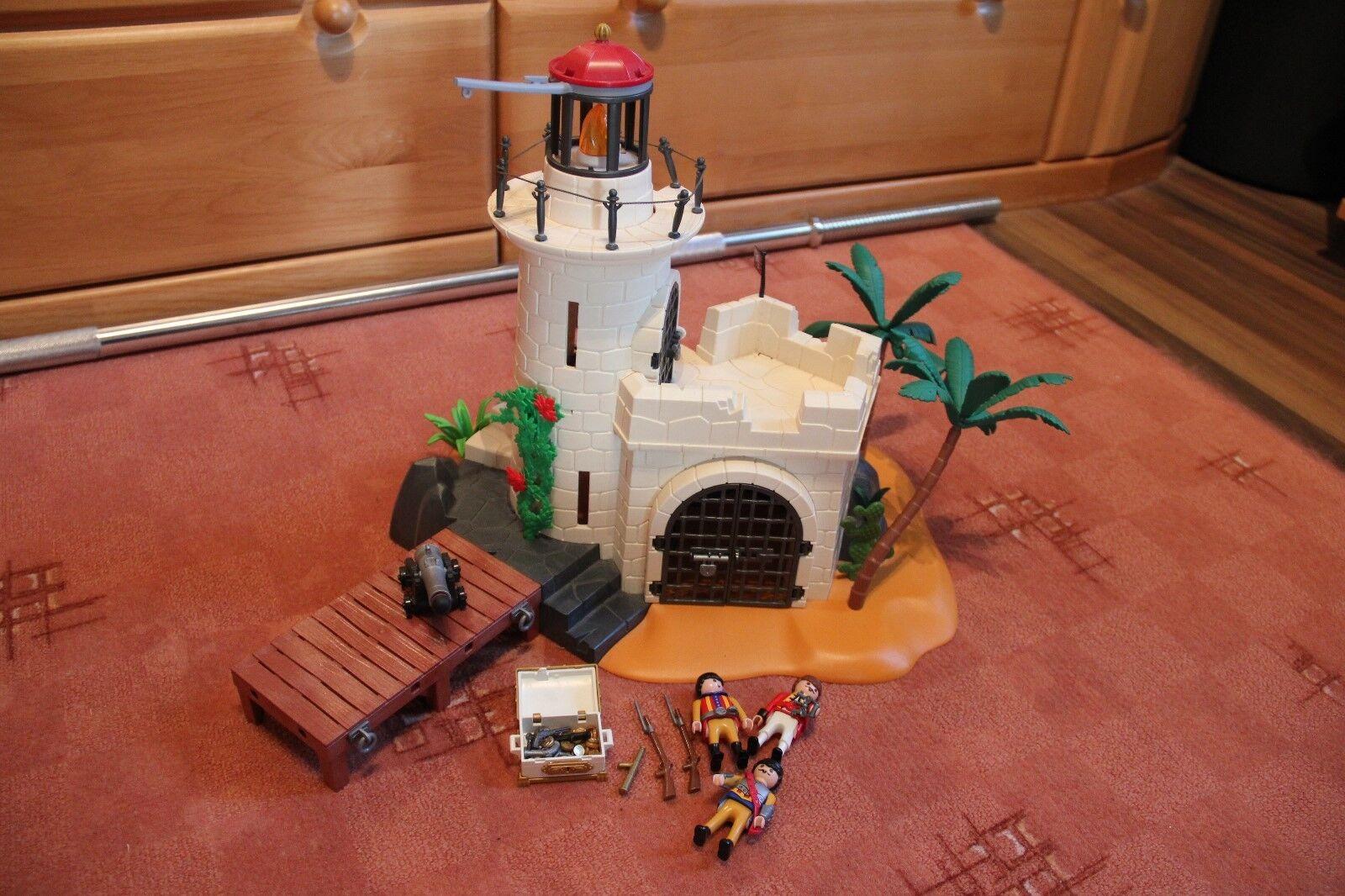 Playmobil gefängniss mit leuchtturm und viel zubehör  | Sehr gute Qualität