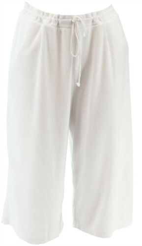Cuddl Duds Sun Baby Terry Gaucho Pants White S # A