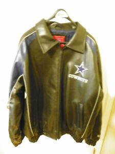 hot sale online 0de3a 42652 Details about Dallas Cowboys Leather Jacket All Stitch Logos Genuine NFL  Licensed Logo