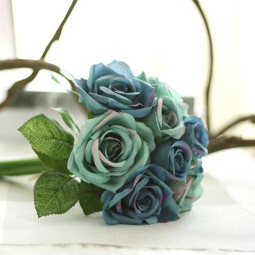 Artificial♡Rose Peony Silk Flowers Leaf Bouquet Home Floral Wedding Garden Decor