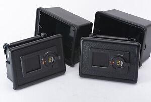 2 x PENTAX 645 645N 645NII 220 Film Backs Holder Magazine w/ Case Near Mint
