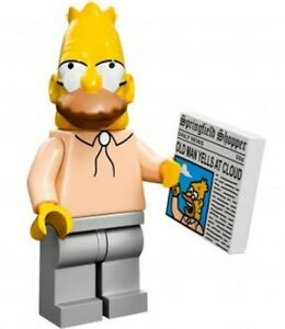 The-Simpsons-Lego-collectible-minifig-Abe-Grampa-Simpson-newspaper