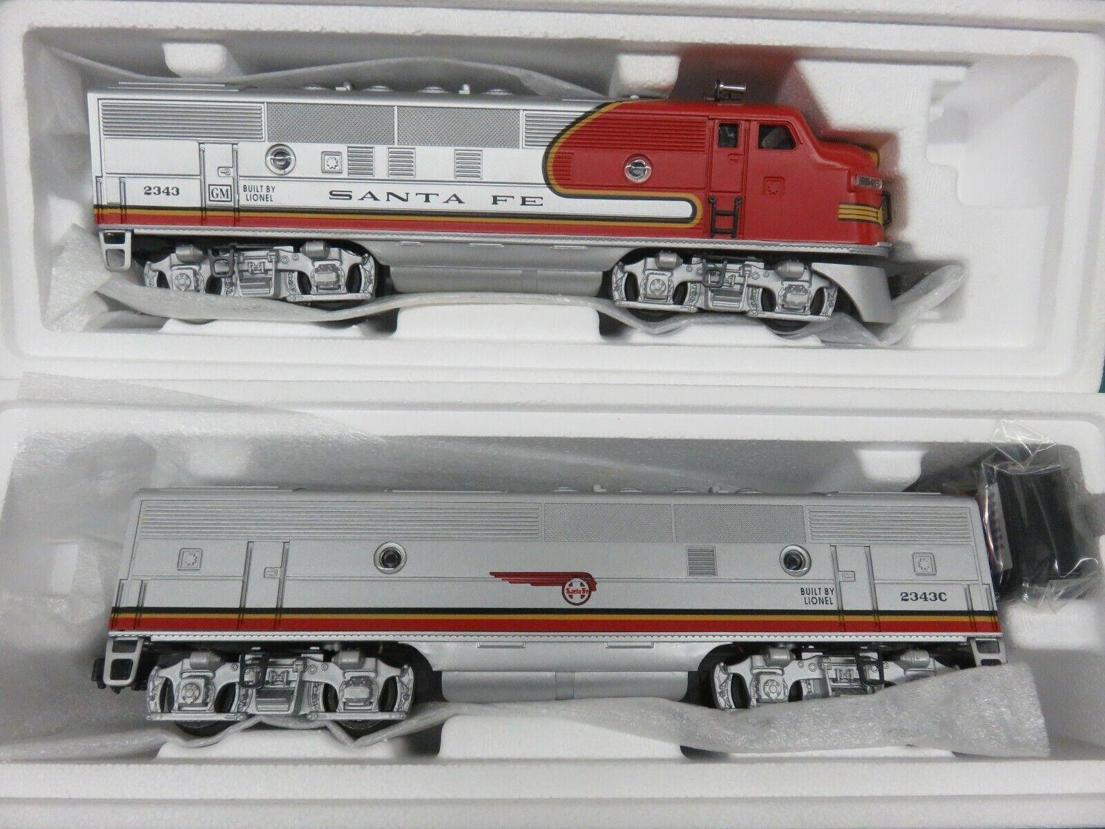 O Gauge Lionel 2343 Santa Fe F-3 A B Diesel Locomotive 6-18128 6-18129