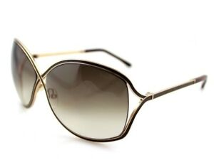 b49e7c9937f29 RARE New Authentic TOM FORD RICKIE Brown Gold Butterfly Sunglasses ...