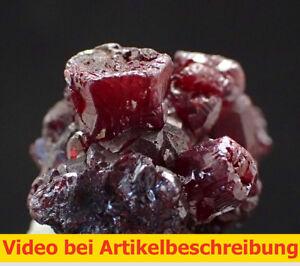 6713-Proustite-Proustit-Oberschlema-Saxony-Erzgebirge-1-5-2-5-1-5-cm-BRD-VIDEO