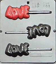 """LOVE"" Pop Lollipop Chocolate Candy Mold Valentine  201 NEW"