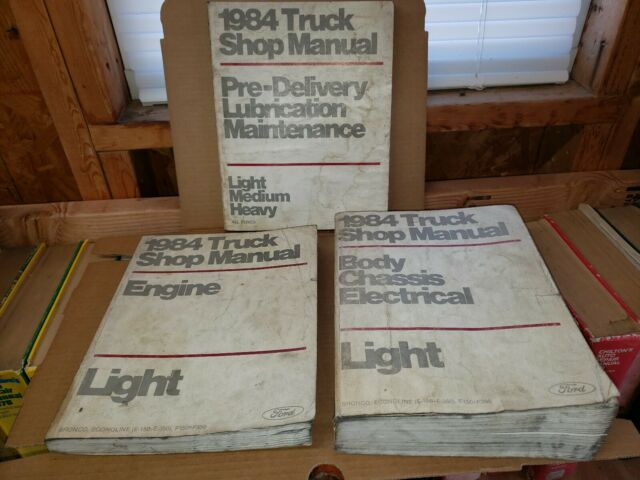 1984 Ford Truck Bronco Shop Manual Set Original Service