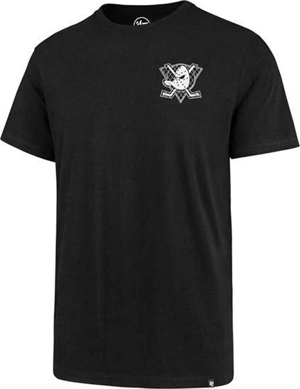 47 Brand Anaheim Ducks NHL The Backer Splitter Tee Jet Black Slim T-Shirt Mens