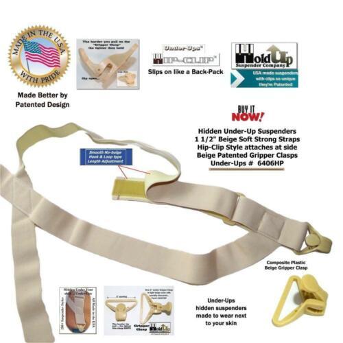 Hold Brand hidden undergarment beige side-clip style Suspenders with...