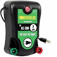 Powerfields Pf Ac 200 120 Acre Electric Fence Energizer 110 Volt 20 Joule