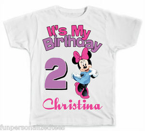 a39b6365a Image is loading Personalized-It-039-s-My-Birthday-Disney-Minnie-