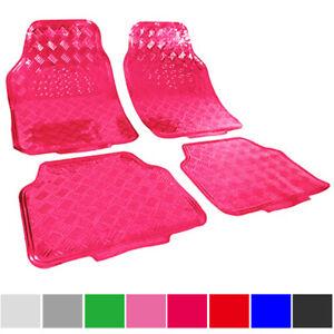 universal auto fu matten matten alu look riffelblech 4. Black Bedroom Furniture Sets. Home Design Ideas