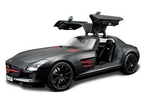 Maisto-1-18-Mercedes-Benz-SLS-AMG-Diecast-Model-Racing-Car-BLACK-NEW-IN-BOX