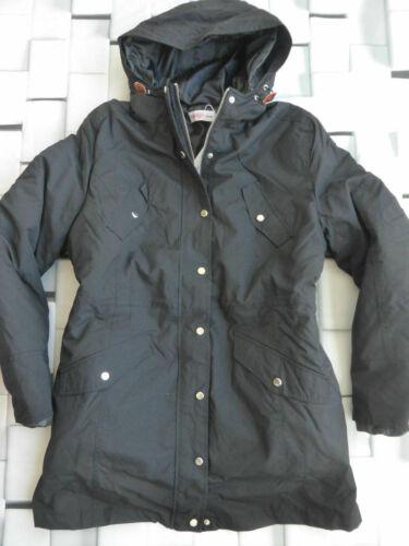 Sheego Veste Parka manteau femme noir avec capuche 457