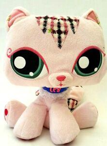 Hasbro-Littlest-Pet-Shop-LPS-Pink-Kitty-Cat-Kitten-Plush-Stuffed-Animal-Toy-2007