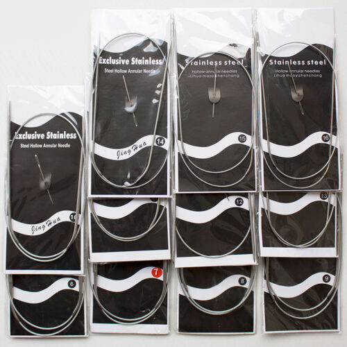 1.5-5mm Needle 80cm Length Stainless Steel Circular Knitting Needle Tool Craft C