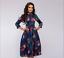 Autumn-Spring-Vintage-Women-Retro-Tunic-Long-Sleeved-Print-Floral-A-Line-Dresses thumbnail 17