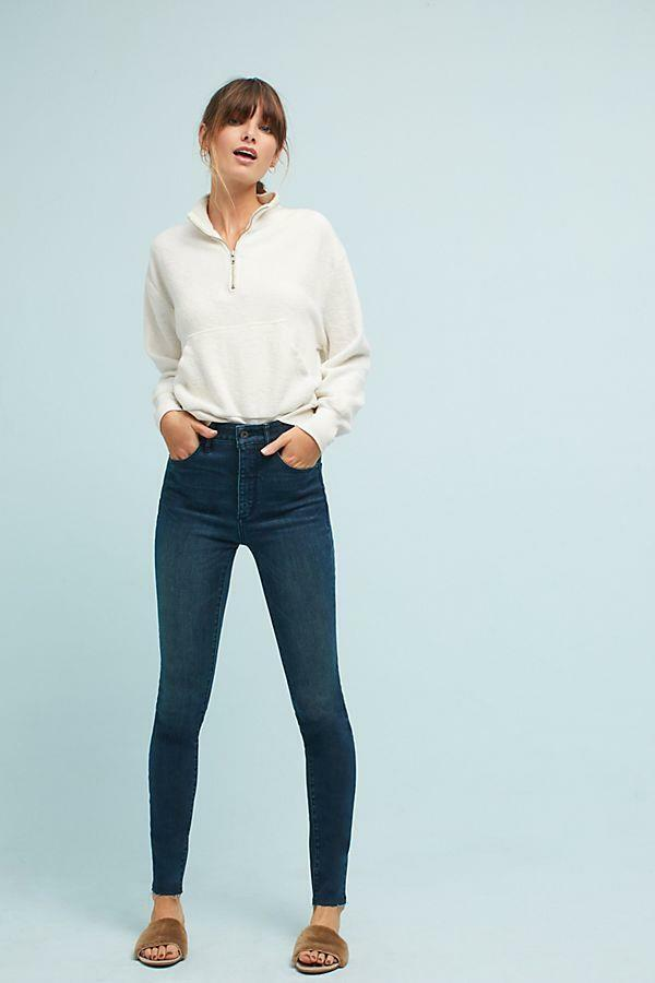 NWOT ANTHROPOLOGIE PILCRO ULTRA HIGH-RISE SKINNY JEANS sz 28 AS IS