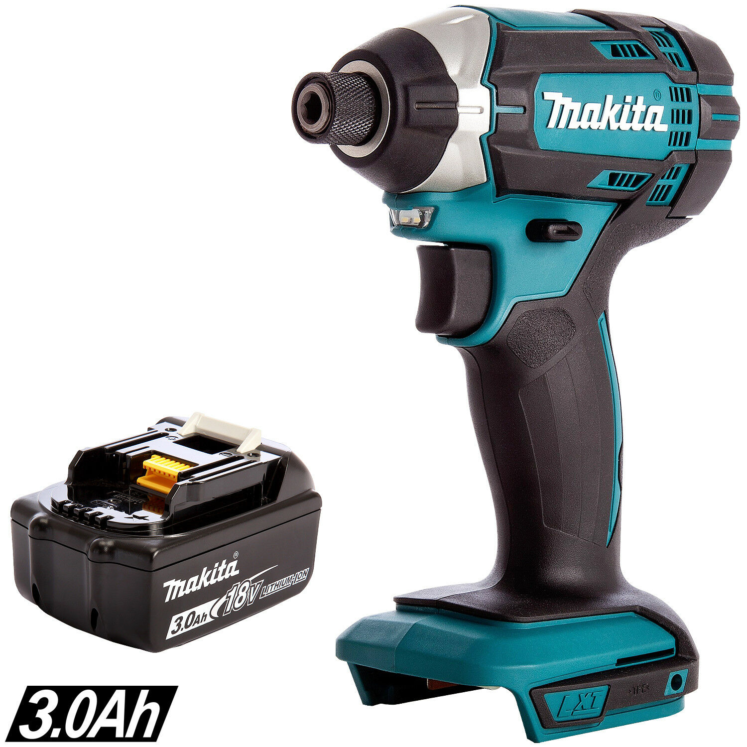 Makita DTD154Z 18V LXT Brushless Impact Driver With 1 x 3.0Ah BL1830 Battery