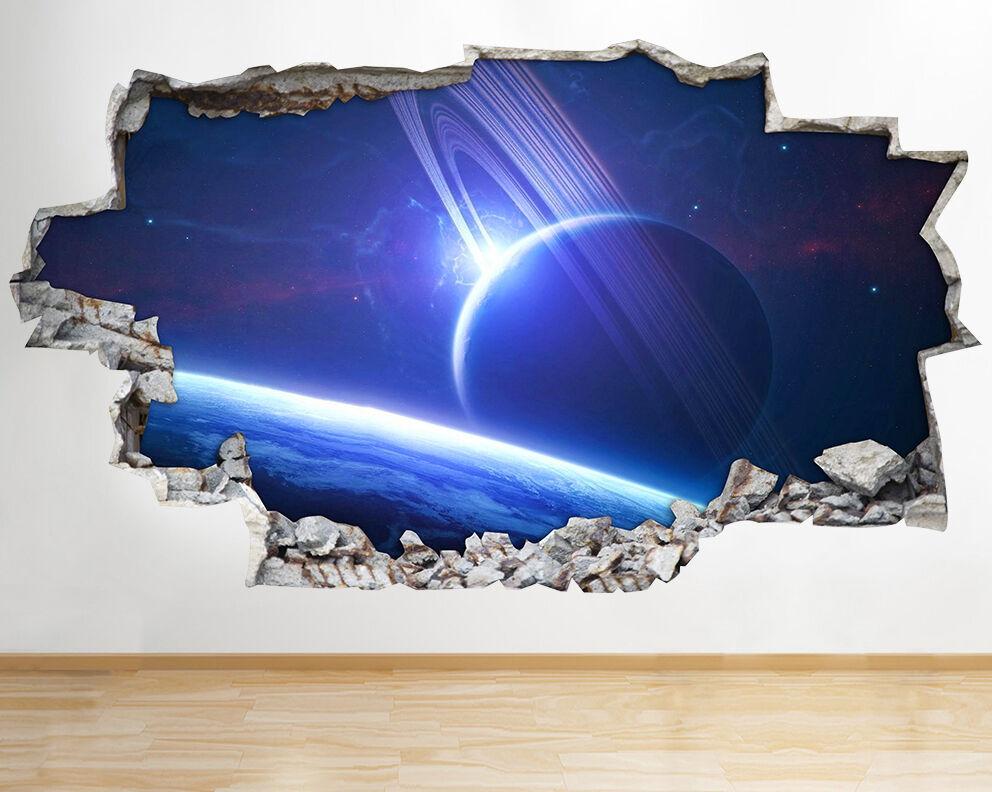 Adesivi Outer Space Pianeti Sky bleu Vinyl adesivo da parete camera bambini