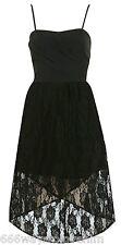 Miss Selfridge Black Bandeau Lace Dress 12 40 Wrap Hilo Mullet Skirt New BNWT