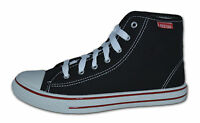 Mens High Lace Canvas Pumps/Plimsolls, Navy, Red, Green, Black,White, Size 7 -12