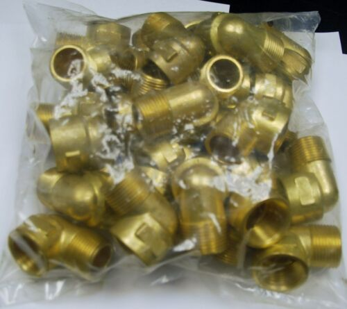 """Brass Fittings: Brass 90° Street Elbow Forged 25 QTY Pipe Size 3//4/"""""""