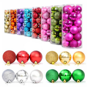 24Pcs-3cm-Christmas-Tree-Balls-Small-Bauble-Hanging-Home-Party-Ornament-Decor