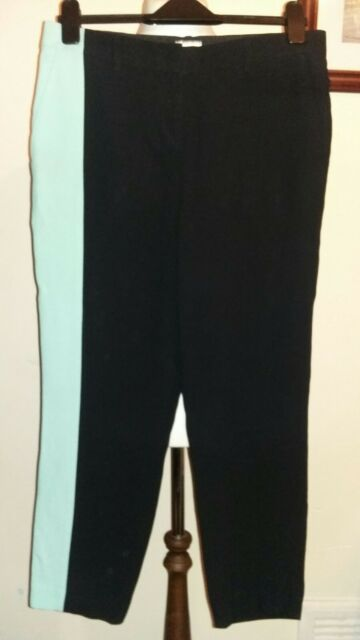 FAUSTO PUGLISI Colour Block Women's Capri trouser Pants Size Ita 44 uk 12