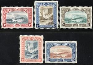 BRITISH-GUIANA-SCOTT-152-56-SG-216-21-MINT-HINGED-AS-SHOWN