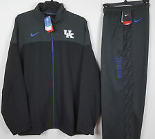NIKE KENTUCKY WILDCATS DRI FIT SUIT JACKET + PANTS GREY ROYAL BLUE NWT =SIZE 4XL