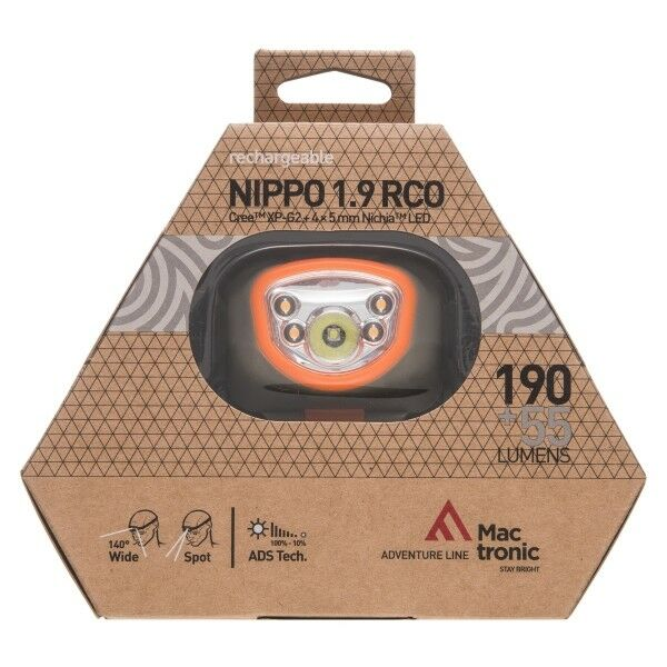 Kopflampe Kopflampe Kopflampe Stirnlampe Mactronic NIPPO 1.9 RCO AHL1013 190lm Jogging Sport Outdoor cb9dce