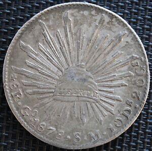 Mexico-8-Reales-1878-Go-S-M-Guanajuato-Silver-km-3-77-8