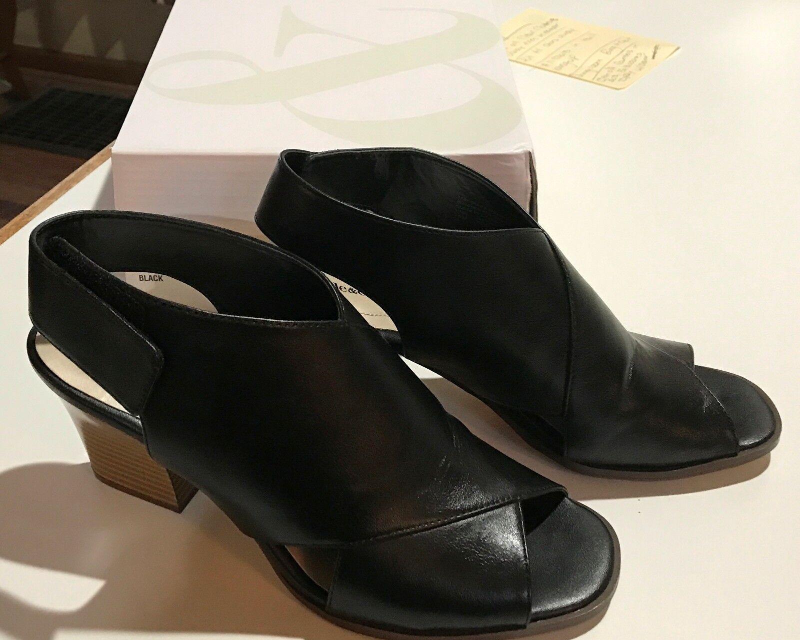 Style & Co Danyel Women's Size 7.5 Black Heel Open Toe Sandals.