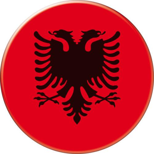 5 x sticker 5cm auto moto velo valise pc portable drapeau Rond Albanie