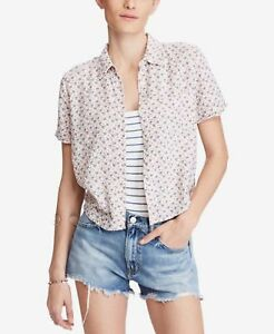 340481dbe Denim Supply Ralph Lauren Cropped Floral-Print Shirt Mallory Floral ...