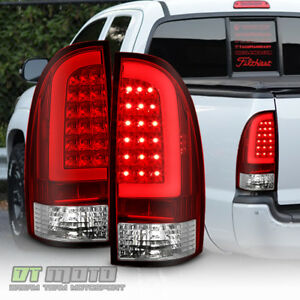 For 2005-2015 Toyota Tacoma Red Lens LED Tube Tail Lights Lamps 05-15 Left+Right