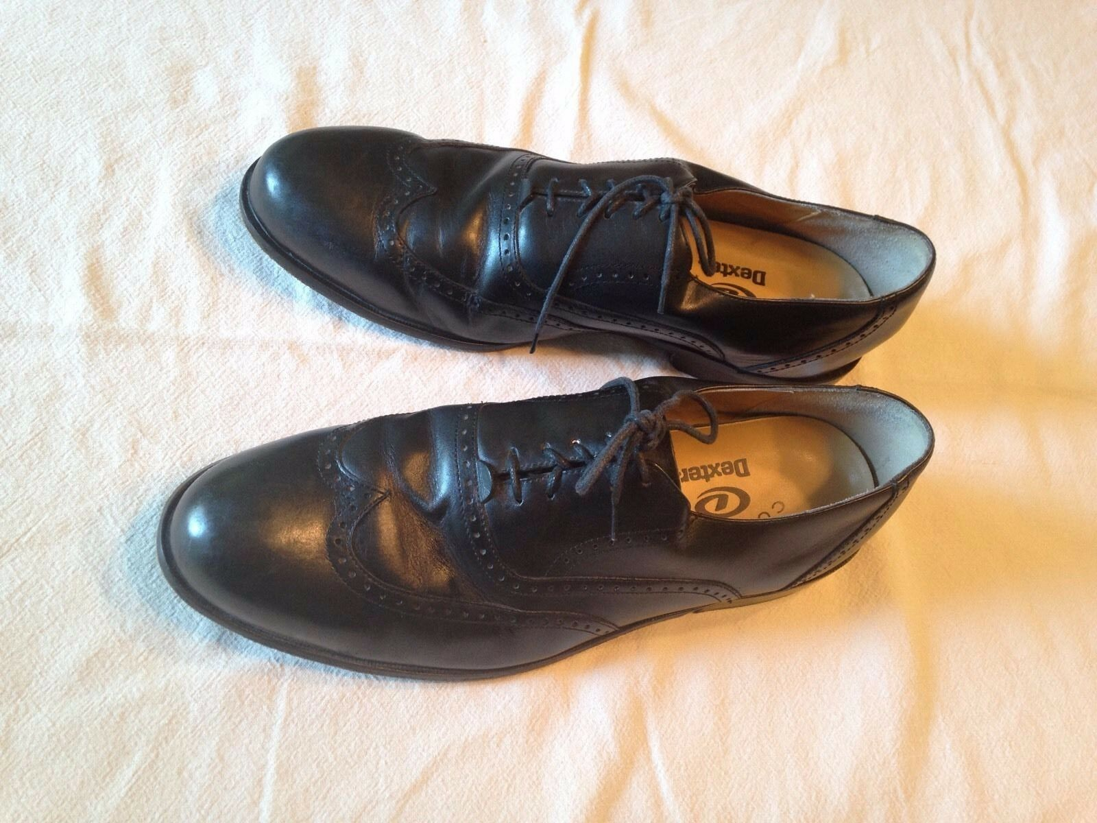 Dexter Wingtip Black Leather Fashion Oxfords Comfort shoes Footwear USA 13 M