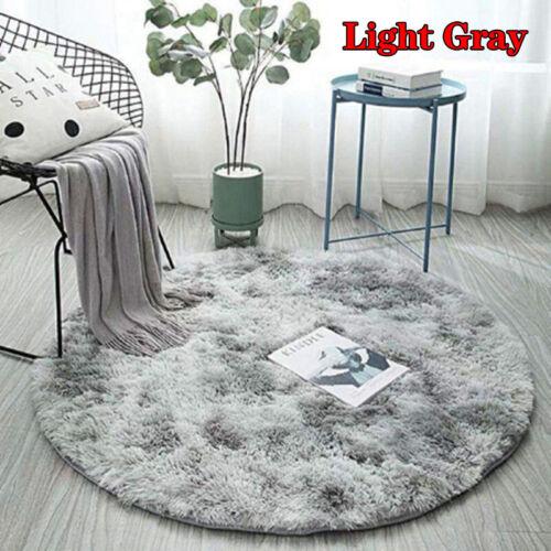 Round Shaped Soft Area Rugs Plush Carpet Living Room Bedroom Rug Fur Mat Decor