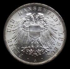 3 Mark  Lübeck  Stadtwappen  1912   Jg 82   Kabinettstück   HL 1
