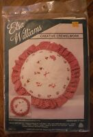 Vintage Elsa Williams Crewel Embroidery Round Pillow Kit Sculptured Goslings