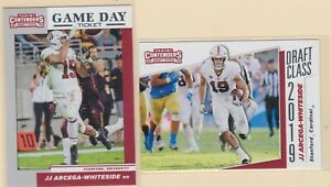 2019-PANINI-CONTENDERS-DRAFT-PICKS-JJ-Arcega-Whiteside-STANFORD-2-CARD-LOT