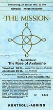 THE MISSION & ROSE OF AVALANCHE • 11 concert photo scans Hamburg 1987 + FREE Ad!