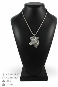 Jack-Russel-Terrier-silver-plated-pendant-with-silver-cord-Art-Dog-IE