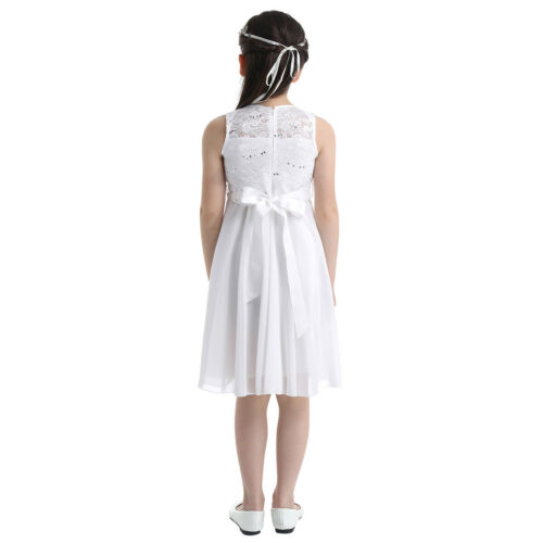 UK Kids Flower Girl Dress Princess Wedding Bridesmaid Pageant Party Formal Dress